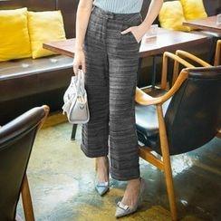 Daiyake - Wide-Leg Melange Pants