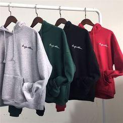 Eva Fashion - Letter Fleece-lined Hoodie
