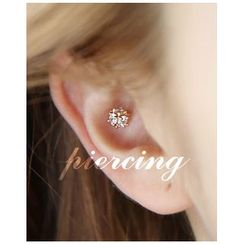 Miss21 Korea - Single Rhinestone Earring