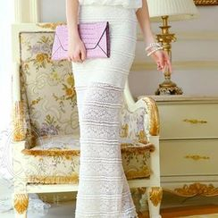 Dabuwawa - Lace Maxi Pencil Skirt