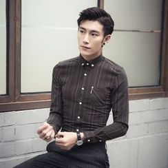 Simsam - Pinstriped Long-Sleeve Shirt