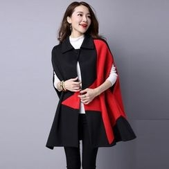 Supernova - Color Block Cape Coat