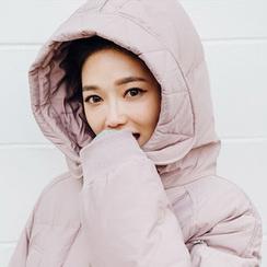 chuu - Hooded Duck-Down Long Puffer Coat