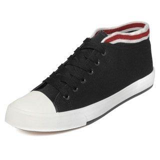 yeswalker - Striped Trim Low-Cut Sneakers