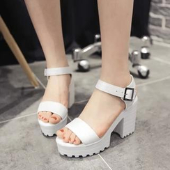 Shoes Galore - Ankle-Strap Heel Sandals