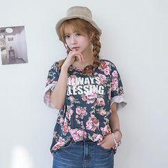 J-ANN - Floral Print T-Shirt