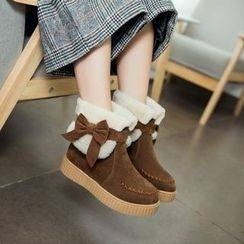 Pangmama - Bow-Accent Short Boots