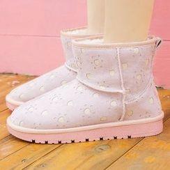 Renben - Patterned  Snow Short Boots