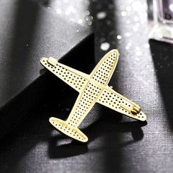 STYLEJING - Rhinestone Plane Brooch