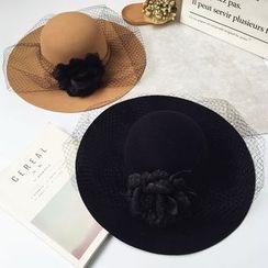 Pompabee - Flower Bowler Hat
