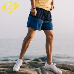YIDESIMPLE - Color-Block Shorts