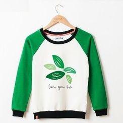 Onoza - Leaf-Print Pullover