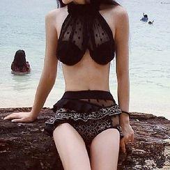 DJ Design - 網紗邊坦基尼泳衣