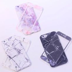 Sea Girl - Marble Print iPhone 6 / 6 Plus Tempered Glass Protective Film