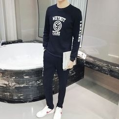 JVI - Set: Printed Pullover + Sweatpants