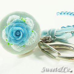 Sweet & Co. - Sweet Glitter Blue Cupcake XL Bag Charm