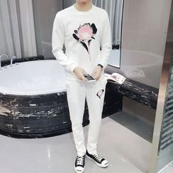 JVI - 套裝: 印花套衫 + 運動褲