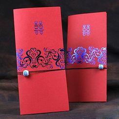 Jacquard Bloom - Wedding Invitation Card