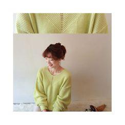 LEELIN - V-Neck Wool Blend Sweater