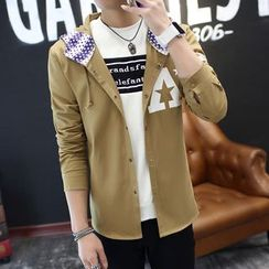 Bay Go Mall - Print Hooded Light Jacket