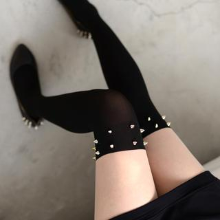 59 Seconds - Studded Two-Tone Tights