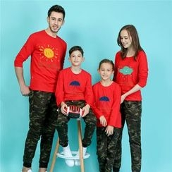 Panna Cotta - Print Long Sleeve Family Matching T-Shirt