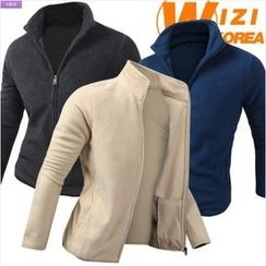 WIZIKOREA - Polar-Fleece Zip Jacket