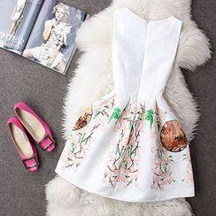 Rainbeam - Sleeveless Printed Dress