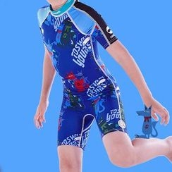 toswim - Kids Print Short-Sleeve Swim Wear