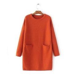 Blue Rose - Plain Long Sweater