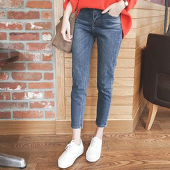 mimi&didi - Washed Tapered Jeans