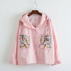 TOJI - Embroidered Hooded Jacket