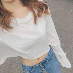 Cloud Nine - Long-Sleeve Cropped T-Shirt