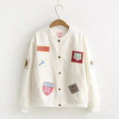Nycto - Applique Baseball Jacket