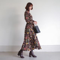 WITH IPUN - Floral Print Maxi Dress
