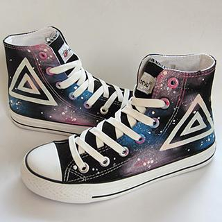 HVBAO - Painted Galaxy Canvas Sneakers