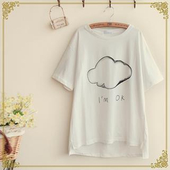 Fairyland - Cloud Print Short-Sleeve T-Shirt