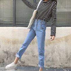 OCTALE - Strappy Straight Fit Jeans