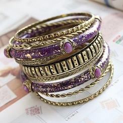 ABOX - Jeweled Engraved Bangle