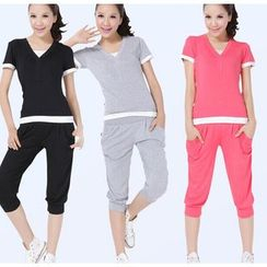 Emme Yoga - Yoga Set: Top + Cropped Pants