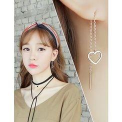 soo n soo - Shape Threader Earrings (5 Designs)