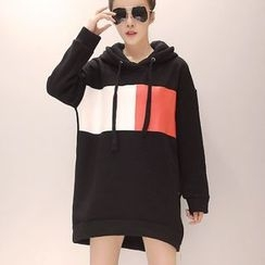 VIZZI - Color Block Long Hoodie