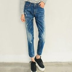 Athena - Distressed Boyfriend Jeans