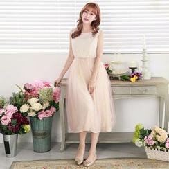 Tokyo Fashion - Sleeveless Paneled Dress