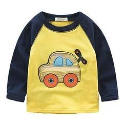 Kido - Kids Print Raglan-Sleeve T-Shirt