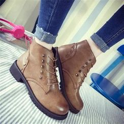 Sunsteps - Studded Lace-Up Ankle Boots