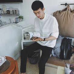 蔡先生 - 立领条纹上衣