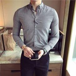 Orizzon - Long-Sleeve Gingham Shirt