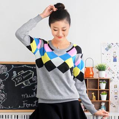 59 Seconds - Multicolored Patterned Sweater