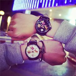 Tacka Watches - Junk Food Print Couple Matching Strap Watch